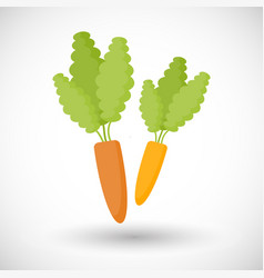 Carrot flat icon vector