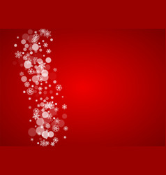 christmas frame with falling snow on red vector image