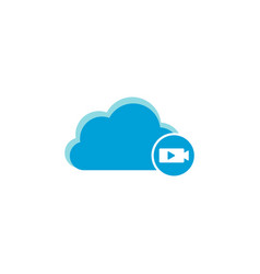 cloud computing icon movie icon vector image