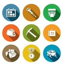 Coal industry icons set vector image