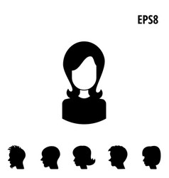 collection of male and female faces avatars vector image