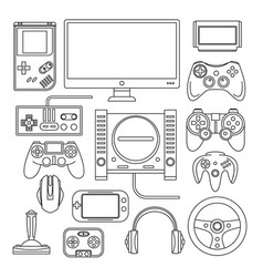 Computer digital video online game console game vector