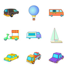 Consignment icons set cartoon style vector