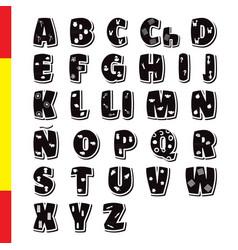 Cute funny childish spanish alphabet font vector