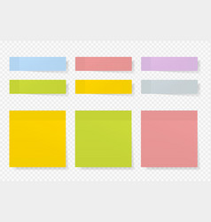different color paper stickers collection vector image