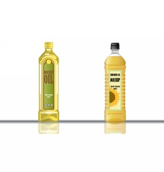 Digital yellow olive and sunflower oil vector