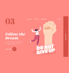 Do not give up motivation and aspiration landing vector