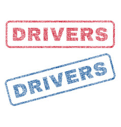 drivers textile stamps vector image