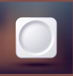 empty button element background vector image