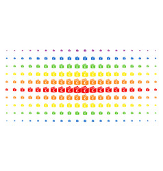 euro checkbook spectral halftone grid vector image