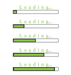 green loading bar vector image