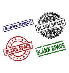 Grunge textured blank space stamp seals vector