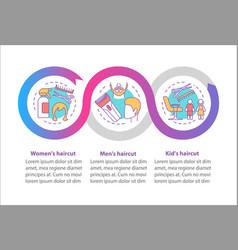 Hairdresser salon haircut infographic template vector