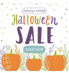 halloween sale template vector image