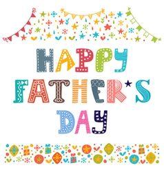 Happy Fathers day Best dad postcard vector