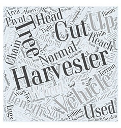 Harvester Word Cloud Concept vector