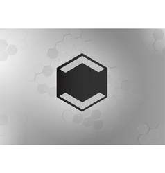 Hexagon logo with gray color vector