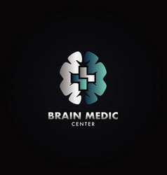 hospital brain medical center logo vector image