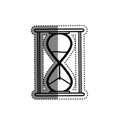 Hourglass antique clock vector