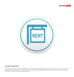 house for rent icon hexa white background icon vector image