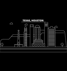 houston silhouette skyline usa - houston vector image