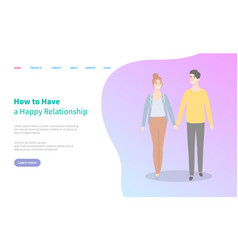 how to have happy relationship website vector image