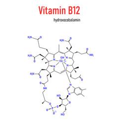 Hydroxocobalamin vitamin b12 molecule formula vector