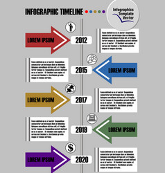 Infographic timeline visualization template vector