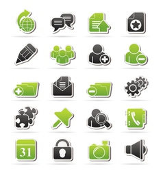 Internet blogging icons vector image