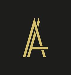 Letter a logo on black vector
