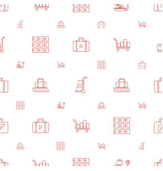 Luggage icons pattern seamless white background vector