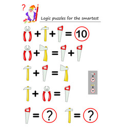 Mathematical logic puzzle game for smartest vector