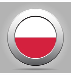 metal button with flag of Poland vector image vector image