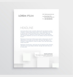 Minimal white letterhead design template vector
