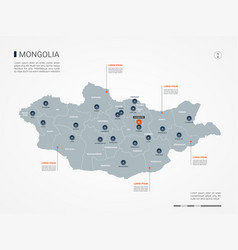 Mongolia infographic map vector
