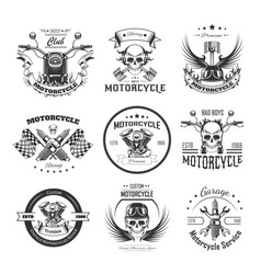 Motorcycle or bikers club logo templates vector