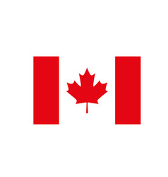 national flag canada on white vector image