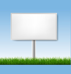 Outdoor advertising display with blue sky vector