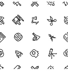 pattern of creative icons with black fill vector image