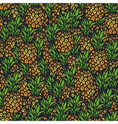 Pineapple seamless background vector
