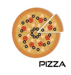 Pizza web iconPizza vector image