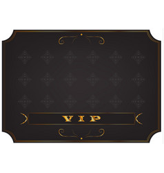 Poster with a gold inscription vip vector