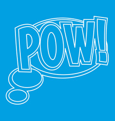 Pow speech bubble icon outline style vector