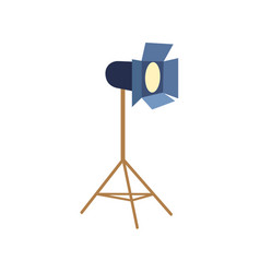 Professional photo studio floor lamp flash light vector