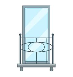 railing balcony icon cartoon style vector image