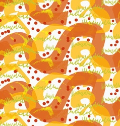 Rough brush orange big and small waves vector