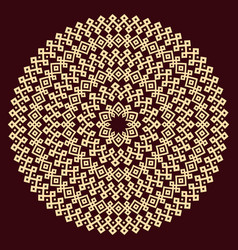 round ornamental texture vector image