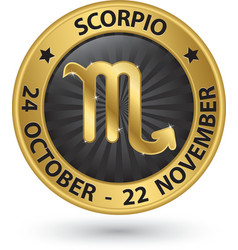 Scorpio zodiac gold sign virgo symbol vector