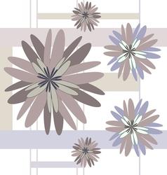 seamless pattern beige flowers vector image