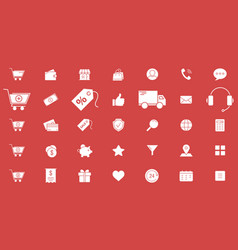 shopping icons 02 vector image